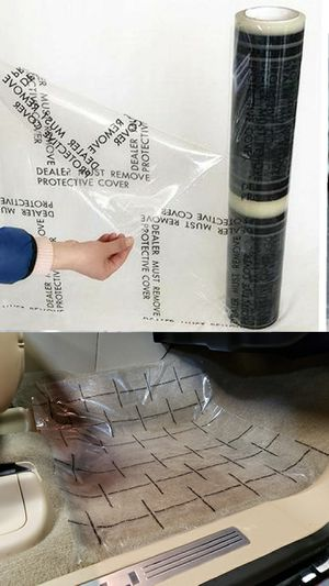Carpet/ Flooring Protective Film with Adhesive for Cars, Trucks, RVs or home. NEW ROLLS for Sale in Long Beach, CA