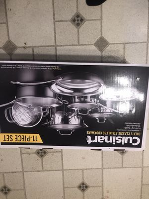 Cuisinart chefs classic 11 piece cooking pans / spec order for Sale in Walpole, MA