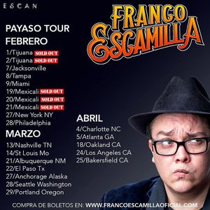 Franco Escamilla tickets for sale (2) for Sale in West Palm Beach, FL