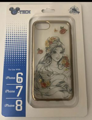 Disney Park D-Tech iPhone 6S/7/8 Beauty Beast Belle Sketch Art Rose Gold. for Sale in Orlando, FL