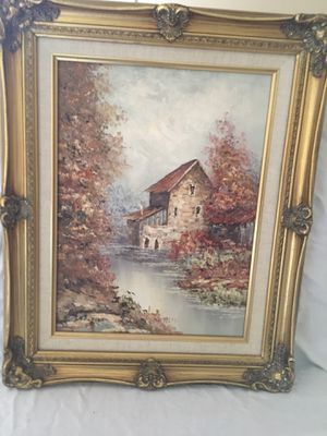 Antique Piece. Artist, Andria. Oil painting on canvas. for Sale in Cooper City, FL