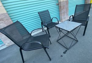 4 piece outdoor patio set furniture, 3 oversized sling chairs & table FREE DELIVERY WITHIN 5 MILES 👍 for Sale in Las Vegas, NV