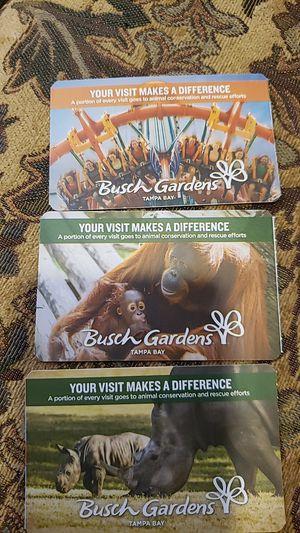 Bushgarden ticket for Sale in Orlando, FL