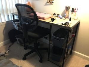 Wayfair Desk and Chair - Like New for Sale in Arlington, VA