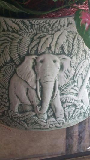 Ceramic elephant design planter for Sale in Grayslake, IL