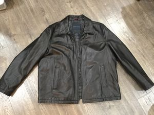Leather Men's Jacket, color black, size XXL for Sale in Rockville, MD