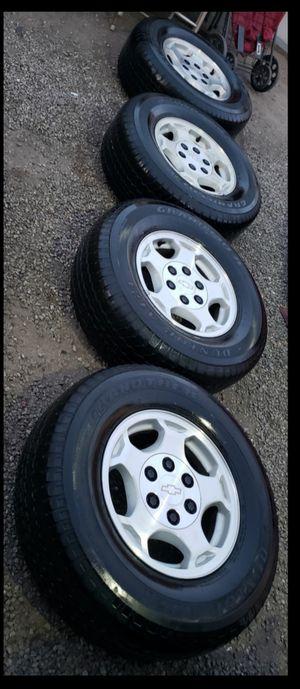 $$$$$Chevy Silverado/Tahoe/Suburban/GMC rims and tires ...16's 265/70/16 for Sale in San Bernardino, CA
