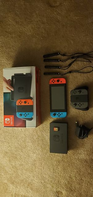 Nintendo Switch with extra joycons and Zelda Breath of the Wild for Sale in Fairfax, VA