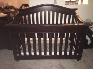 Wooden crib and changing table top for Sale in North Royalton, OH