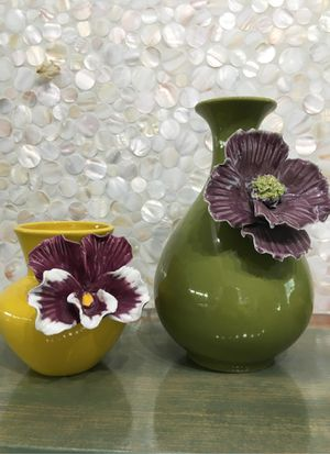 Anthropologie flower vases for Sale in Seal Beach, CA
