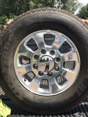 Rims and tires Silverado 2500 2015 4 rims for Sale in McGregor, TX