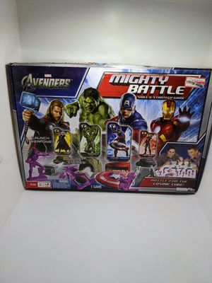 Marvel Comics Avengers Mighty Battle Board Game Iron Man Captain America Hulk for Sale in Webster, MN