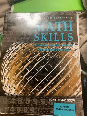 Math skills arithmetic with introductory algebra and geometry 7th edition for Sale in La Puente, CA