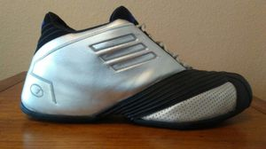 Adidas T-Mac 1 BLACK/Silver Shoes Size 13 for Sale, used for sale  San Antonio, TX