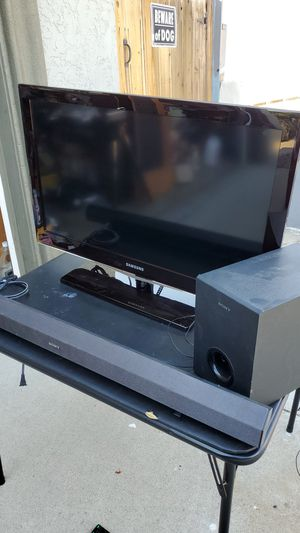 """Samsung 32""""TV and Sony sound bar for Sale in Oceanside, CA"""