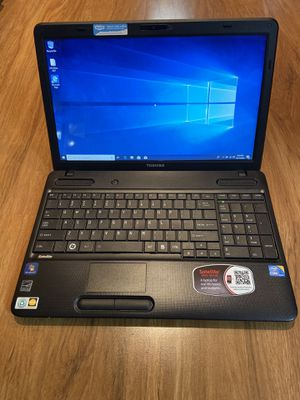Toshiba Satellite A665 core i3 4GB Ram 160GB Hard Drive 15.6 inch HD Screen Windows 10 Pro Laptop with charger in Excellent Working condition!!!!! for Sale in Aurora, IL