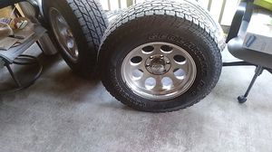 Yokohama tires and rims and tpms valves. Tires are 85 %good asking 460.00 for all for Sale in San Antonio, TX