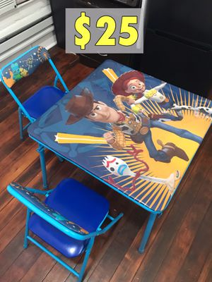 Toy Story Kids Folding Table with Chairs for Sale in Los Angeles, CA