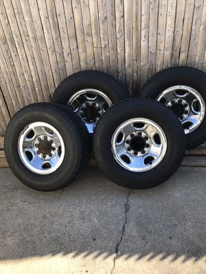 Chevy 8 lug wheels and tires for Sale in Floral Park, NY