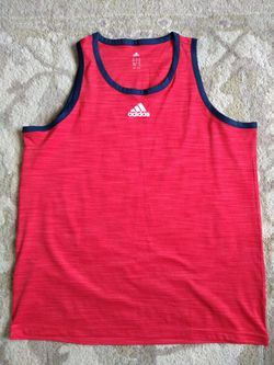 Adidas red tank top for Sale in Washington,  IL