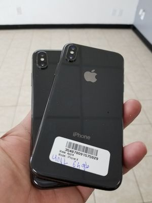 Unlocked iPhone X 64gb Excellent condition,Free charger and 30days warranty for Sale in Richardson, TX