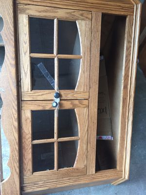 Corner solid oak TV stand for Sale in Aloha, OR