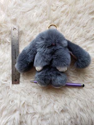 "6"" Genuine Rabbit Fur Bunny Keychain for Sale in Woodbridge, VA"