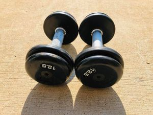 Dumbbells - 12.5lbs Dumbbells - Gym Equipment - Weights - Barbell - Rubberized Dumbbells for Sale in Downers Grove, IL