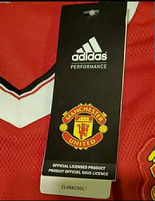 Manchester United Jersey Adidas New With Tags