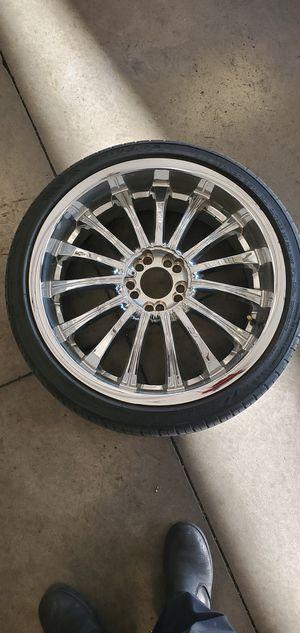 20x8.5 rims w/tires 40mm offset. 5x114 bolt pattern for Sale in Las Vegas, NV