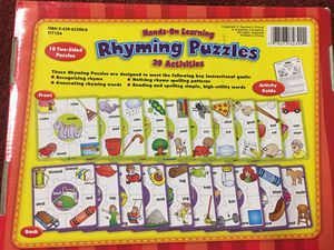Rhyming puzzles learning game for Sale in Howell, NJ