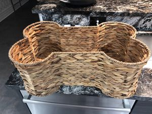 Dog wicker toy basket for Sale in Tampa, FL