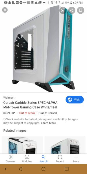 Computer mid tower gaming case for Sale in Tempe, AZ