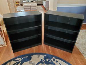 Black Bookshelves (Good condition) 2 for $30 for Sale in Suffolk, VA
