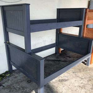 Pinewood bunk beds frame only twin-full ,, (mattresses not included) for Sale in Downey, CA