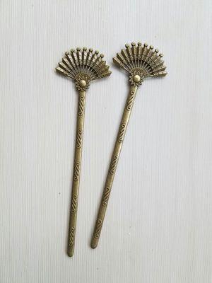 Bronze hair stick pair, fan for Sale in Seattle, WA