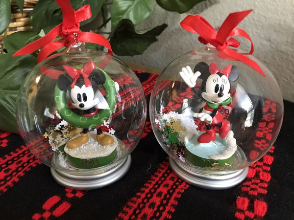 Pair of Minnie Mouse Collectible Ornaments