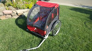 Aosom bike kids bike trailer 2 or 1 seater for Sale in Riverbank, CA