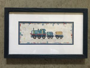 Kids train picture in frame for Sale in Vacaville, CA