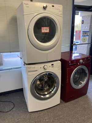 Whirlpool front load washer & ventless electric dryer in excellent condition with 4 months warranty for Sale in Laurel, MD