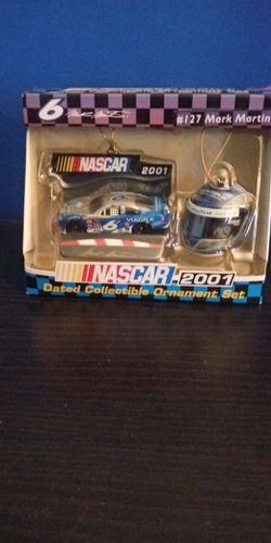 2001 Nascar Mark Martin Collectable Ornament Set for Sale in Jacksonville,  IL