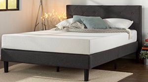 Full Queen or KING Upholstered Platform Bed Brand new in Box $175. Memory Foam MATTRESS FULL $135. < QUEEN $150 >. KING $200 for Sale in Columbus, OH