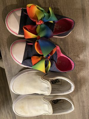 Little girl shoes size 11 Vans and JoJo shoes for Sale in Scottsdale, AZ