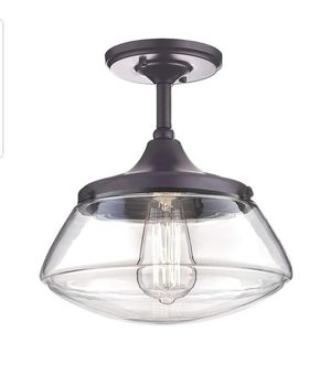CLAXY Ecopower Vintage Metal Glass Ceiling Light 1-Lights Pendant Lighting Chandelier for Sale in Ontario, CA