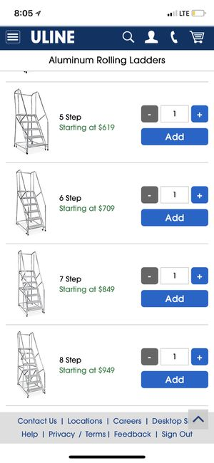 Aluminum rolling ladders for Sale in San Leandro, CA