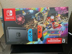 Nintendo switch mariokart 9 Bundle NEW for Sale in Garden Grove, CA