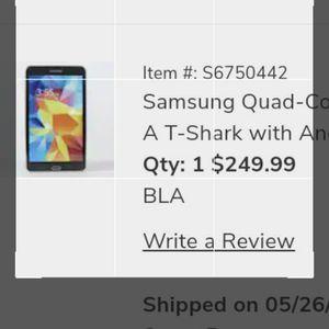 """Samsung Quad-core Galaxy S7 BLACK 8"""" for Sale in Philadelphia, PA"""