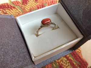 Sterling Silver Bamboo Coral Ring for Sale in Farmington Hills, MI