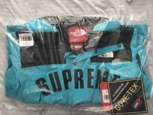 Supreme X Northface teal parka for Sale in Alexandria, VA