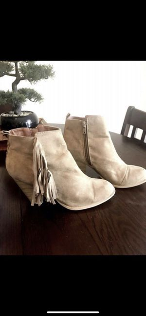 Size 7 Taupe Fringe Suede Booties for Sale in Santa Ana, CA
